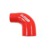 Szilikon szűkítő könyök TurboWorks Piros 90 fok 45-63mm